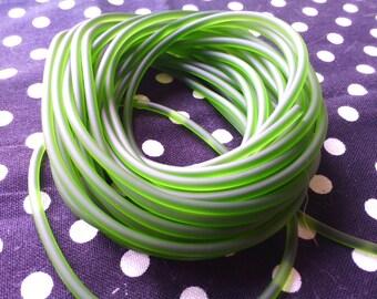 1 meter cord 2 mm PVC, Khaki Green