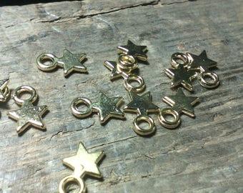 ☆ 50 mm ☆ plomb.../10x8x2 flat/gold/metal star charms