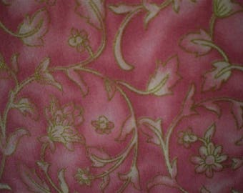 decorative pink patchwork fabric leaves