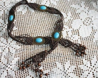 leather cord belt