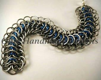 Alligator back chainmaille bracelet