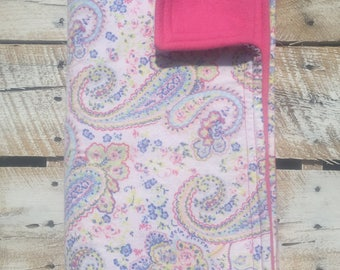 Floral paisley baby/ toddler blanket