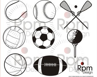 Sports SVG file, SVG File, Sports eps, Sports, baseball, football, golf, Vector, Cuttable, Cricut, Silhouette, Bundle, Digital, High Quality