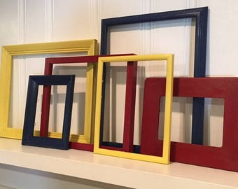 Primary Colors Gallery Wall - Playroom Frame Set - Picture Frame Set - Wall Decor - Gallery Wall - Frame Collection-