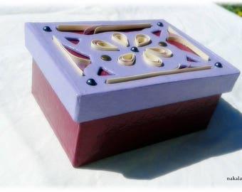 unique box cardboard flower jewellery