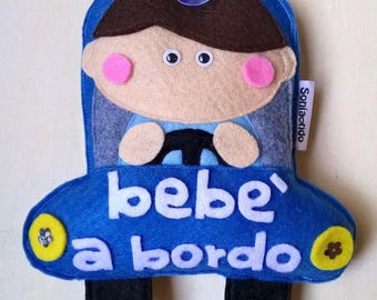 Bebe on board car license plate