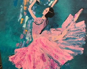 ballerina in pink