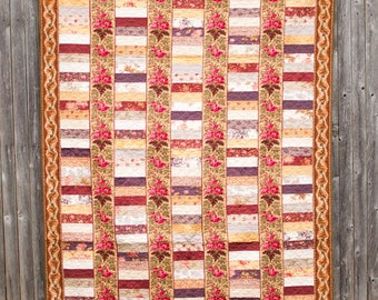 Chinese Coins - Machine Quilted Quilt