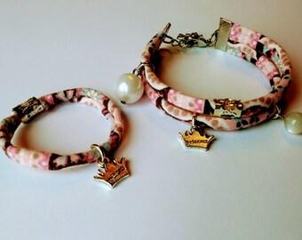 Pink stone bracelet mother-daughter duo Moon