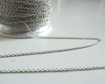 Fine trace chain Platinum 1.5 mm