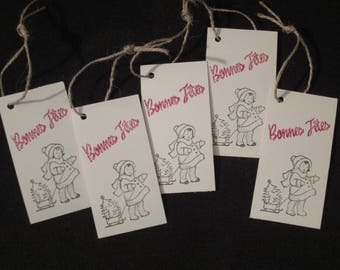 5 x large gift tags for Christmas