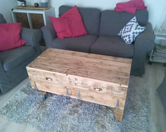 Upcycled wooden table'