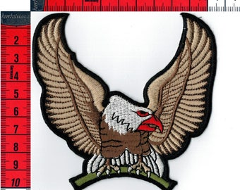 Iron or sew Eagle badge embroidered 10.5 X 10.5 cm Patch Applique
