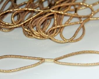 The elastic Golden headband Headband creation