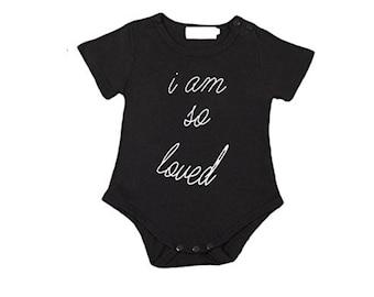I Am So Loved Baby Onesie Bodysuit