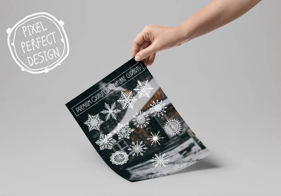 Premium Rustic Christmas Clipart Snowflakes Cliparts Winter Transparent SVG From