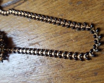 20cm chain fancy gold and black