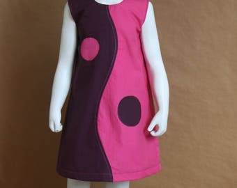 Pink and plum - hesitation dress girl 3 years