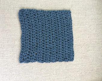 Square Dishcloth Blue