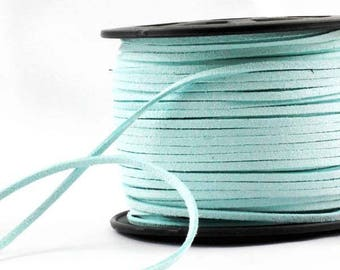 Aqua 5 meters x 3 mm suede cord