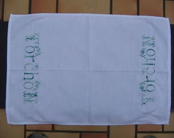Embroidered Tea towel honeycomb
