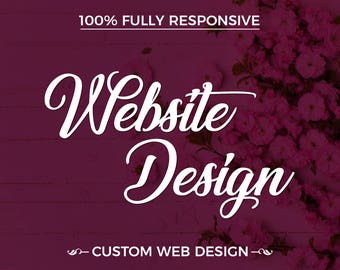 Business Website Design, Website Design, Wordpress Website Design, Professional Website, Custom Website,  Responsive Website
