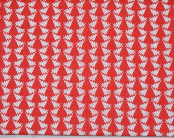 "Coupon genuine Liberty of London fabric red 175 - ""Jonathan""."