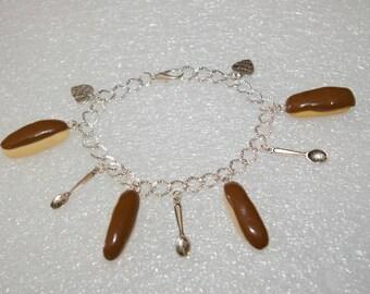 dipped in chocolate bracelet Fimo lightning charm bracelet