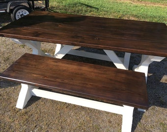 PINE BENCHES Choose Between Trestle OR Farm House Style Benches