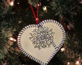 Snowflake Softball Ornament