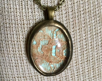Artifact Rusty Lace Pendant