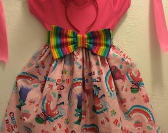 Party Girl Troll Dress, Little Girl Troll Dress