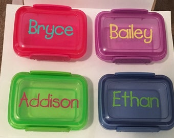 Personalized snack containers