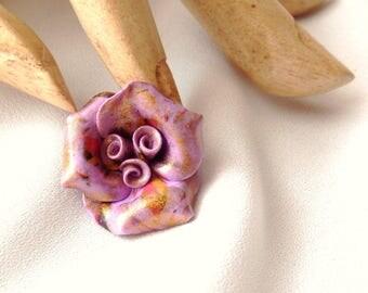 "Cabochon bead ""Variations on purple"" N ° 3"