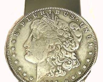 U.S.Morgan Dollar copper 1895 Money Clip Hand made