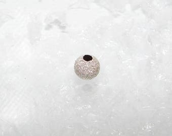 Silver bead ball 6.0 mm. Sequined beads first money title.