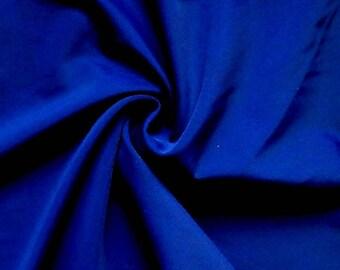 brilliant blue stretch lycra fabric