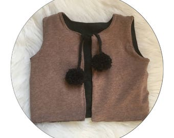 Reversible vest for baby