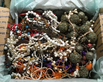 C12, Jewelry lot of mixed jewelry, great craft lot, 8 1/2 lbs, necklaces mixed vintage to now