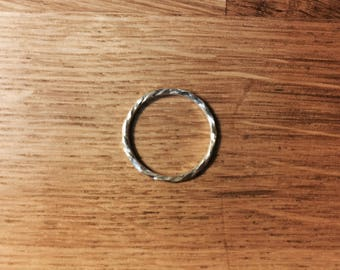 twisted and hammered Silver 925 ring.
