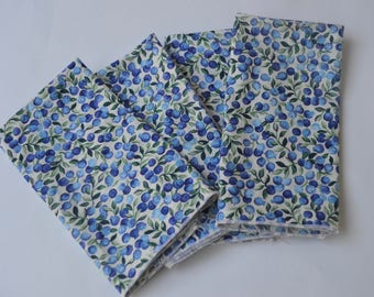 Vintage Blueberry cotton cloth napkin set