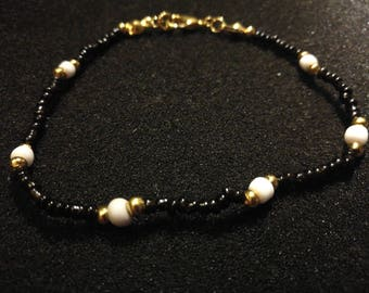 386. Seed & E bead Bracelet (Gold-Plated)
