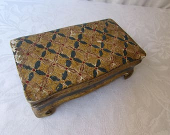 ITALIAN BOX Vintage Mid-Century Florentine Gold Gilt Wood Trinket Jewelry Box