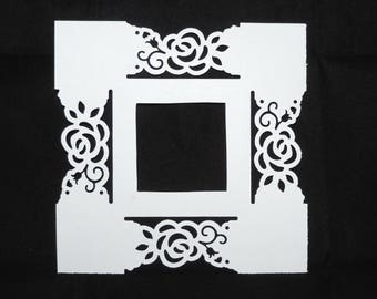 Large n ° 5 embellishment color choice photo frame