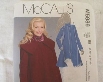 36 38,40,42,44 coat woman, McCall pattern ' S