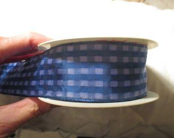 Blue brass 11 meters Plaid Ribbon