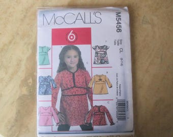 pattern top shirt girl size 6, 7, 8 MC CALL's S