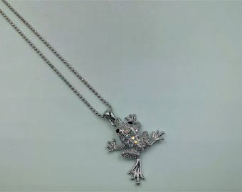 Frog Necklace - White