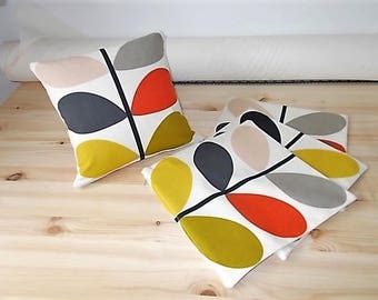 Orla Kiely Tomato Multi Stem Double Sided Cushion Covers Pack of Four 30cm sq (12inch)