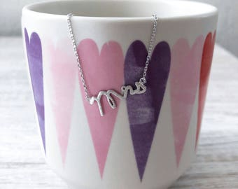 Silver Mrs Dainty Necklace